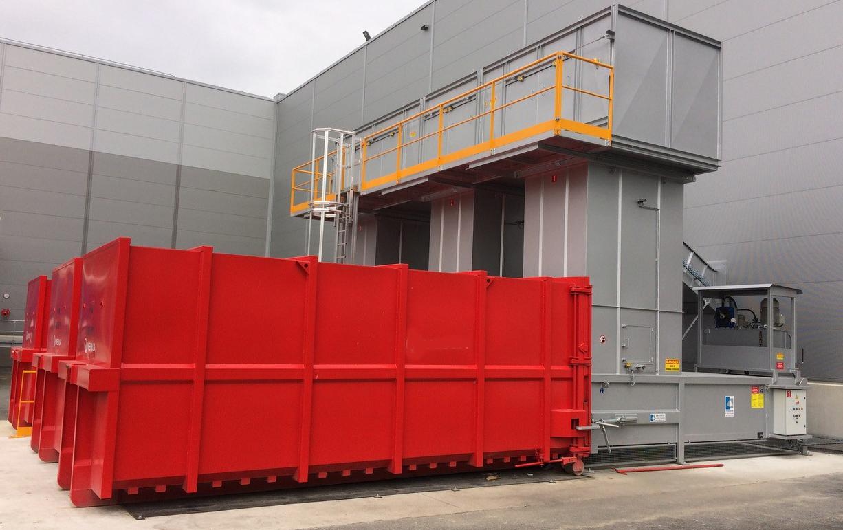 Compacteur de déchets - compacteur poste fixe