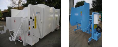 compactage des déchets - lève container