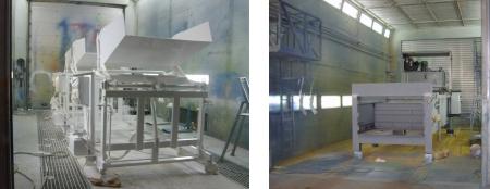 cabine de peinture pour compacteur déchet Pressor